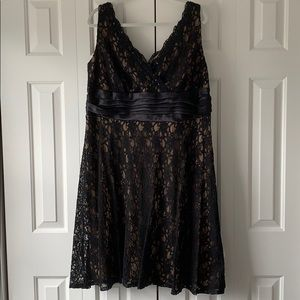 Dress Barn Collection black lace a-line dress